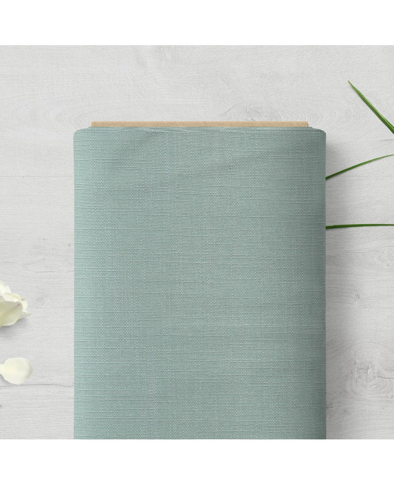 Duck Egg Solid Color Cotton Curtain Fabric