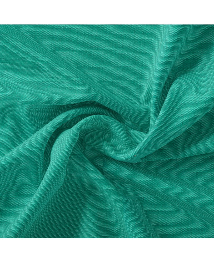 Turquoise Solid Color Cotton Curtain( set of 2)