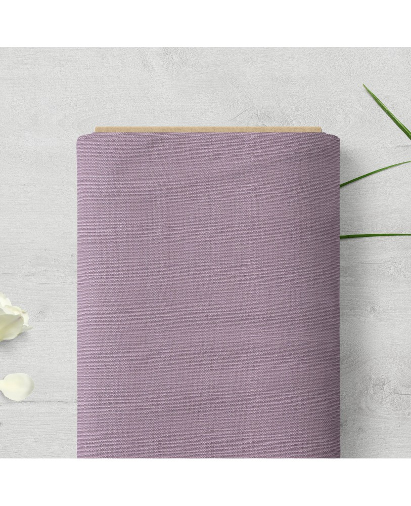 Lilac Solid Color Cotton Custom Curtain Fabric