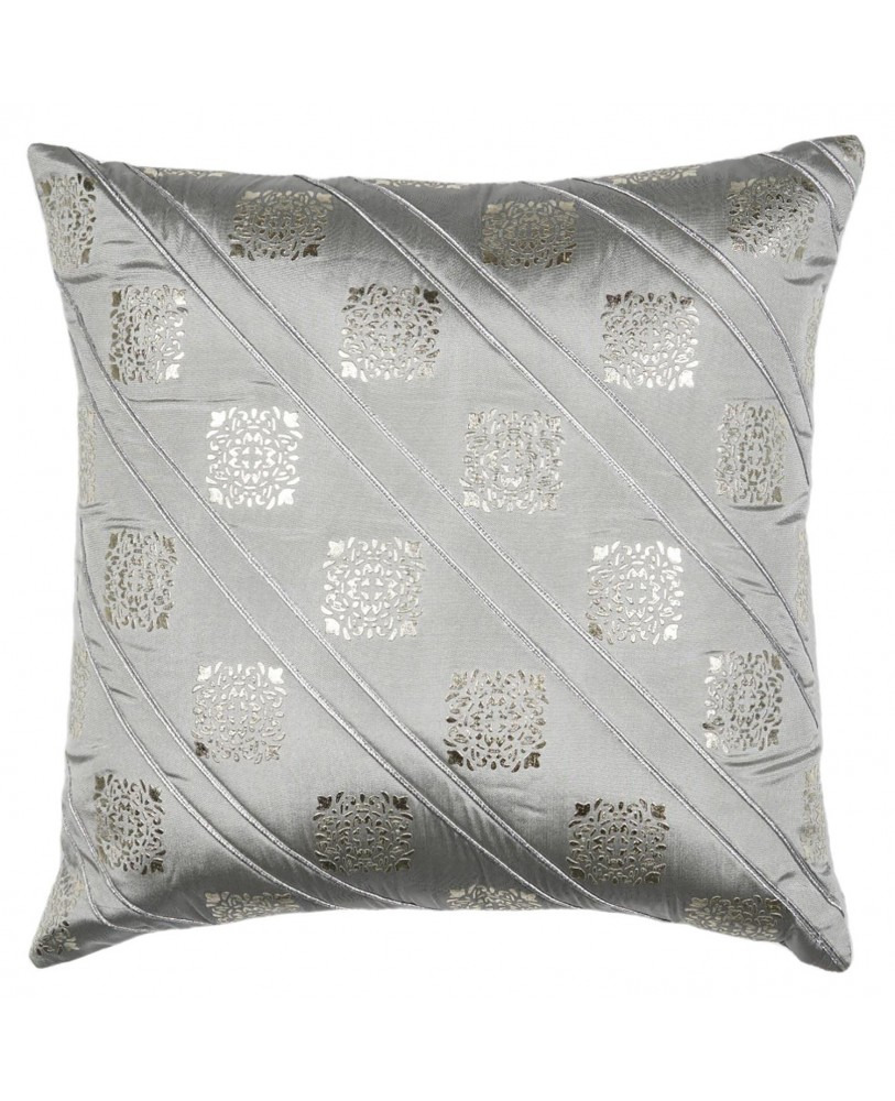 GREY BASE WITH GOLD FOIL PRINT CUSHION COVER