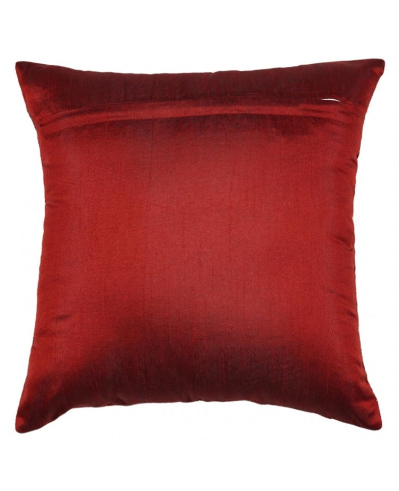 MAROON BASE WITH GOLD FOIL PRINT CUSHION COVER