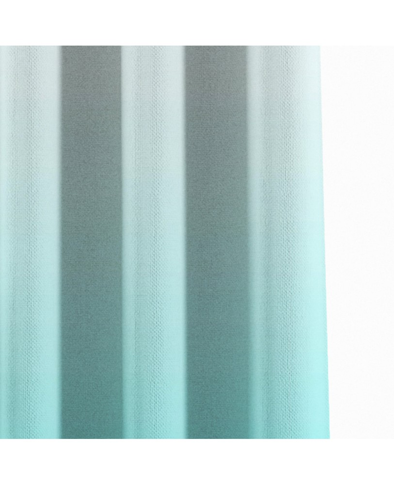 Blue and White Ombre Eyelet Curtain