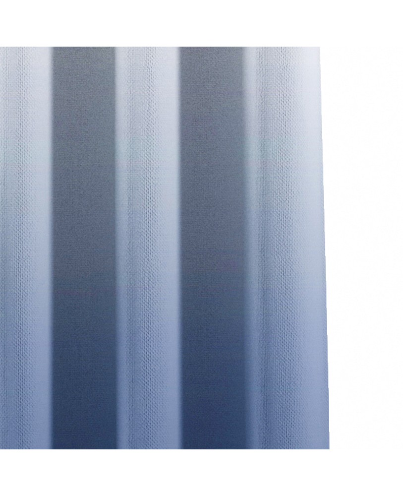 Dark Blue and White Ombre Eyelet Curtains ( Set of 2)