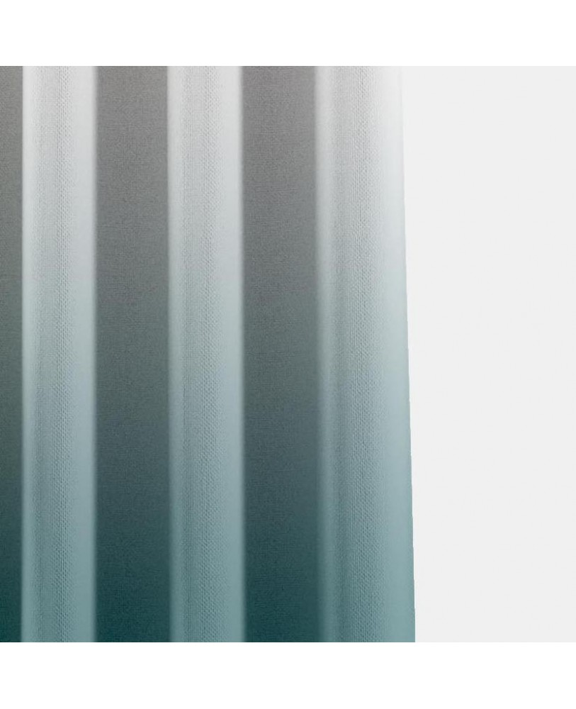 Aqua Blue and White Ombre Eyelet Curtain