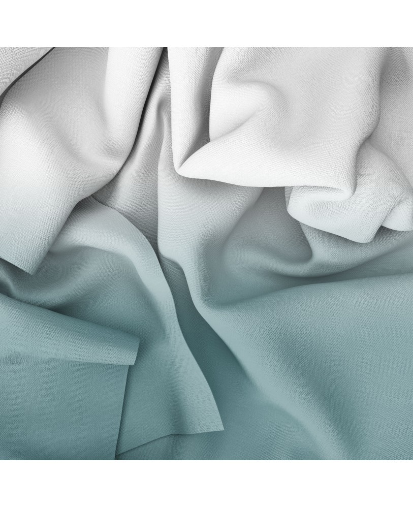 Aqua Blue and White Ombre Eyelet Curtains ( Set of 2)