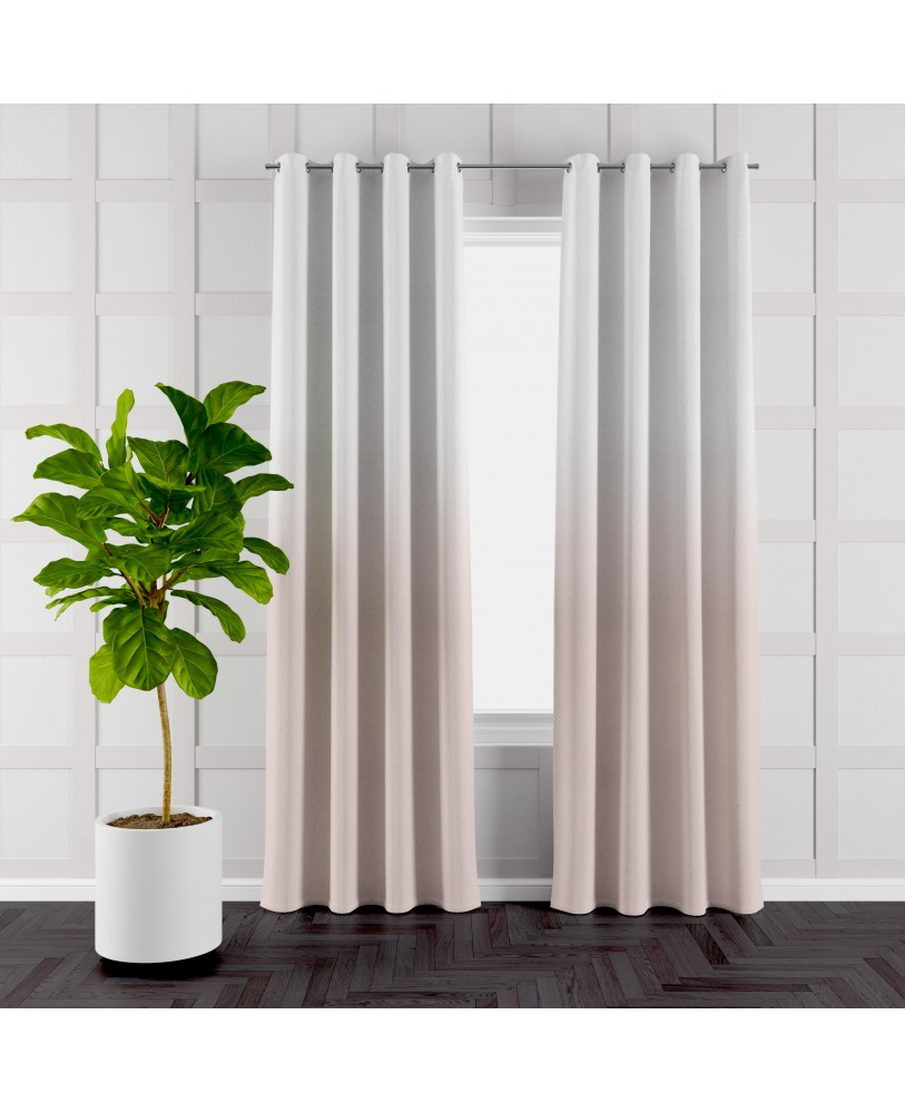 Almond and White Ombre Eyelet Curtains ( Set of 2)