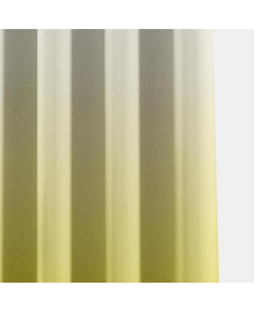 Yellow and White Ombre Eyelet Curtain