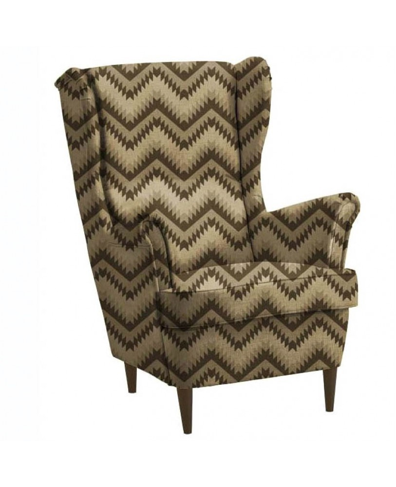 Brown Zig Zag Printed  AZTEC-50 Upholstery fabric
